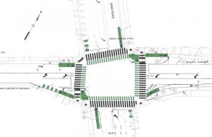 This image shows the King and San Antonio intersection improvements.